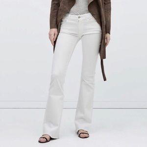 Zara Flared White Jeans